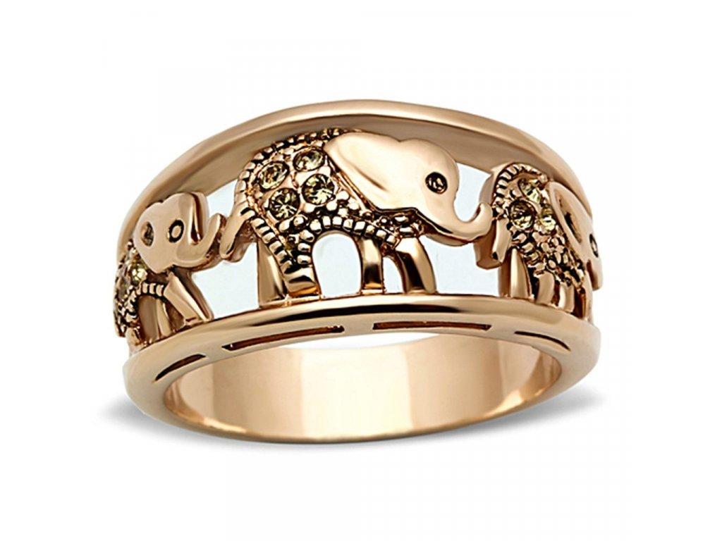 ocelovy prsten s krystalmi sr1380
