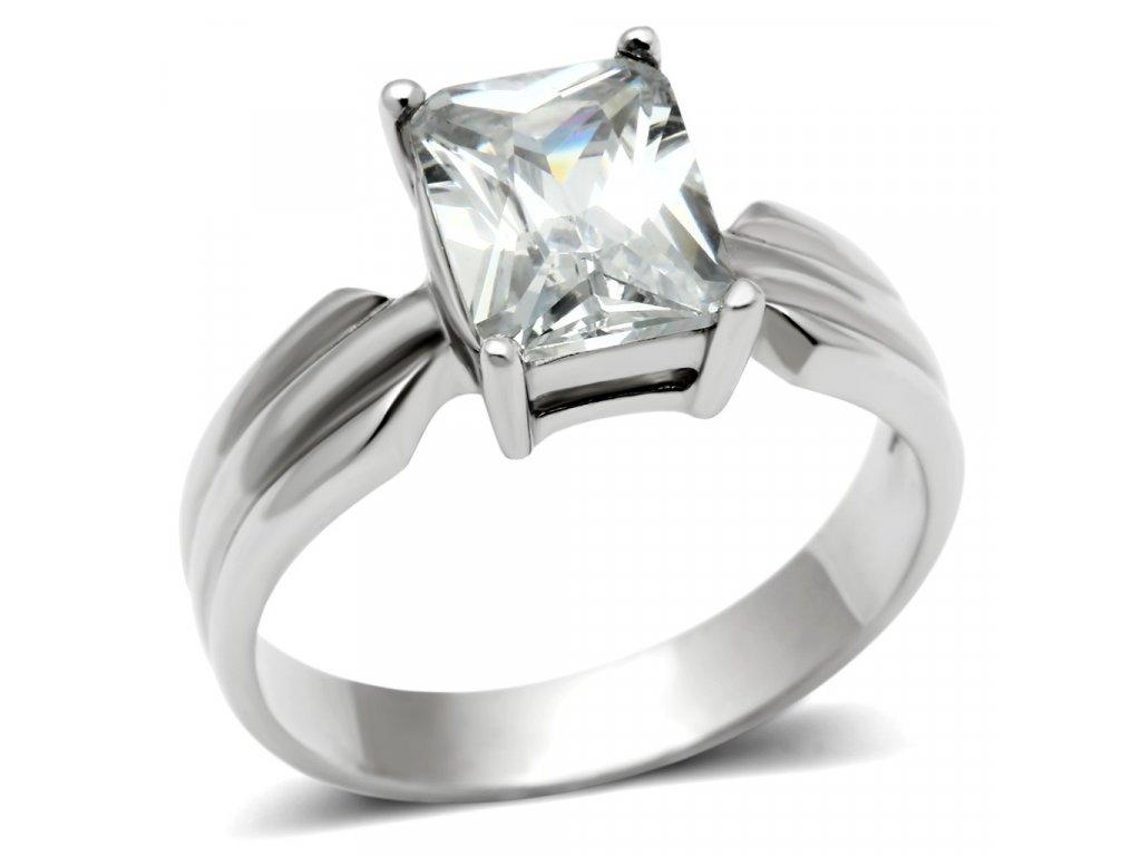 ocelovy prsten so zirkonom sr0391