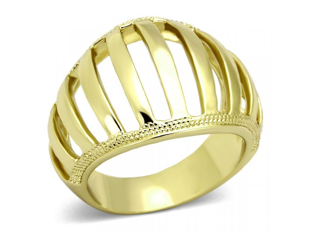 ocelovy prsten zlaty sr0858