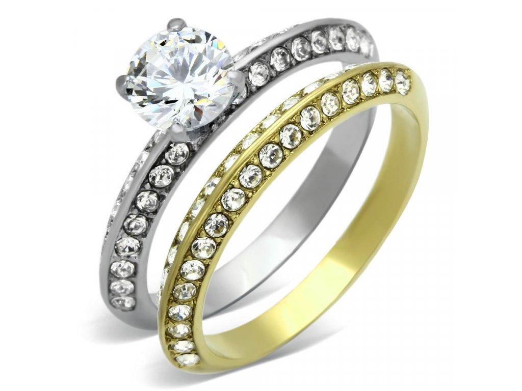 ocelovy prsten so zirkonom sr0967