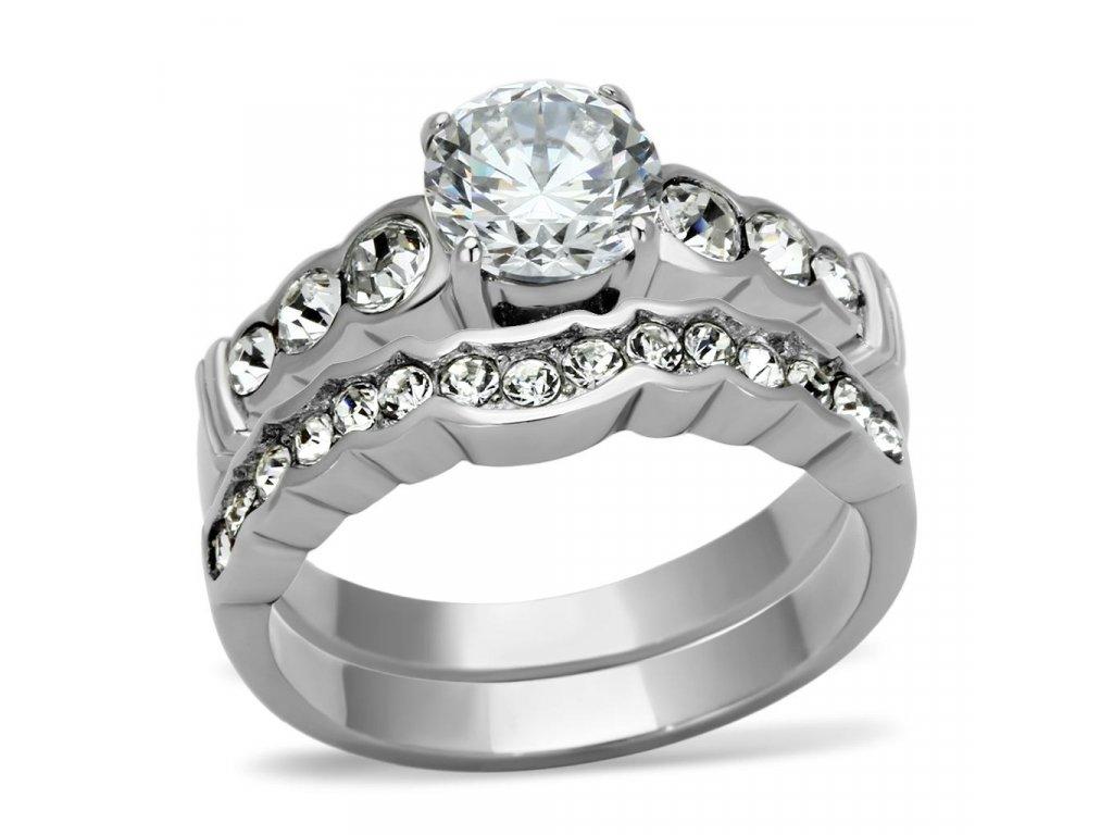 ocelovy prsten so zirkonmi sr0974