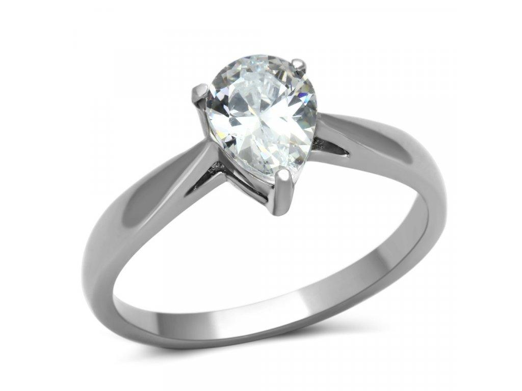 ocelovy prsten so zirkonom sr0994
