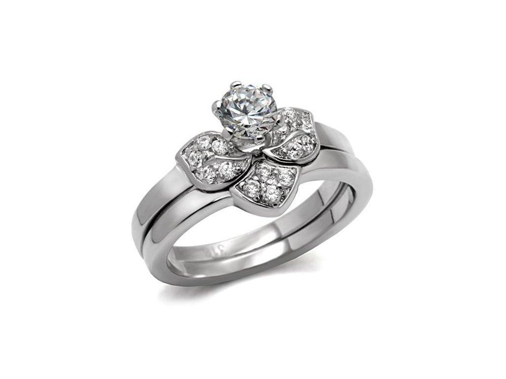 ocelovy prsten so zirkonom sr0099