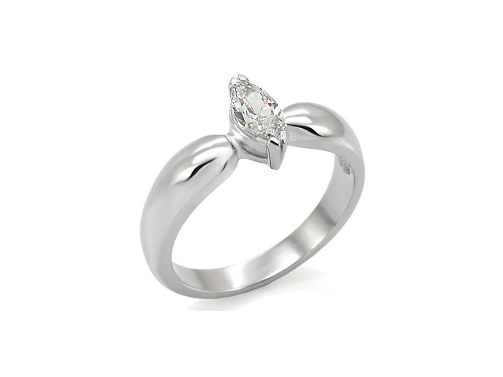 ocelovy prsten so zirkonom sr0014