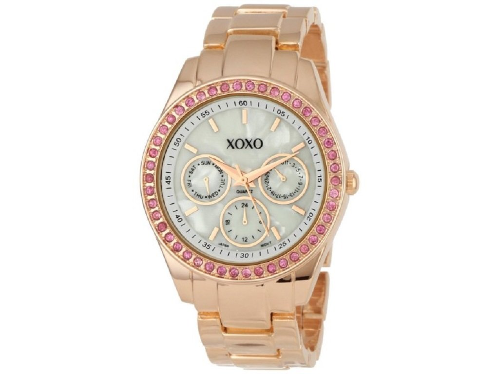 xoxo rosegold damske hodinky s krystalmi xo5298a