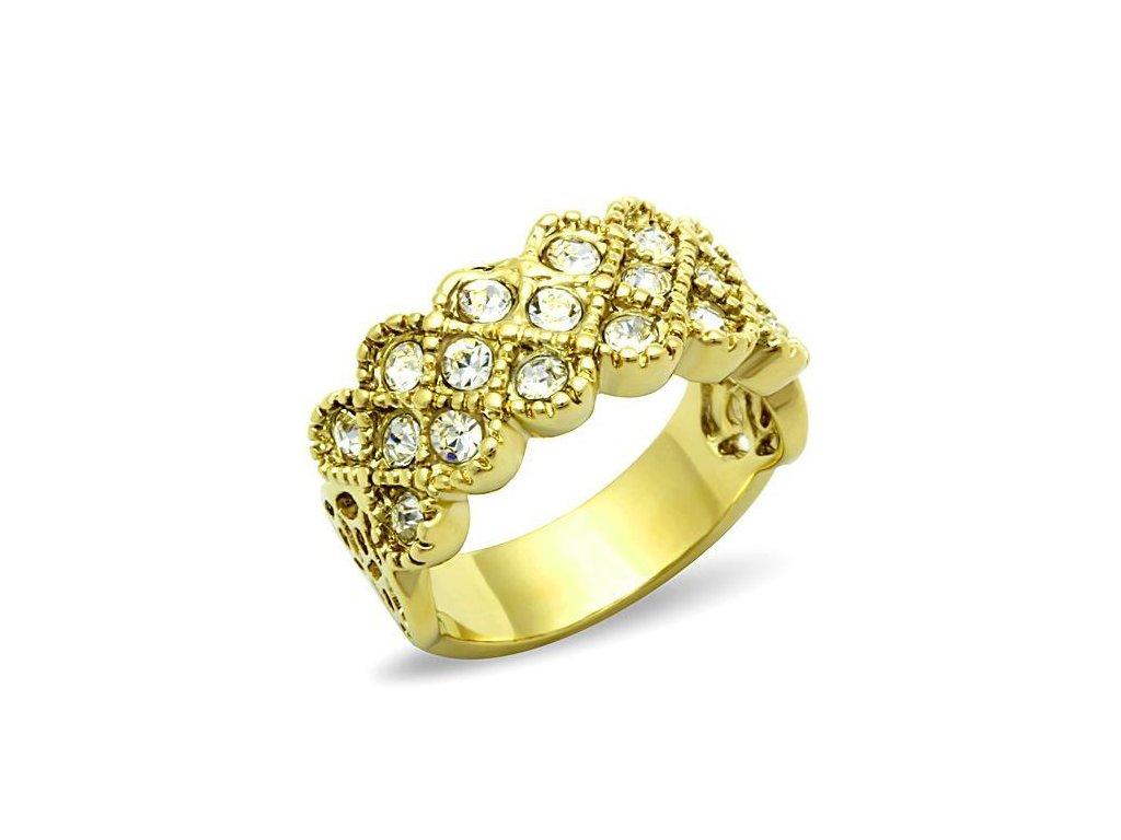 ocelovy prsten zlaty sr1394