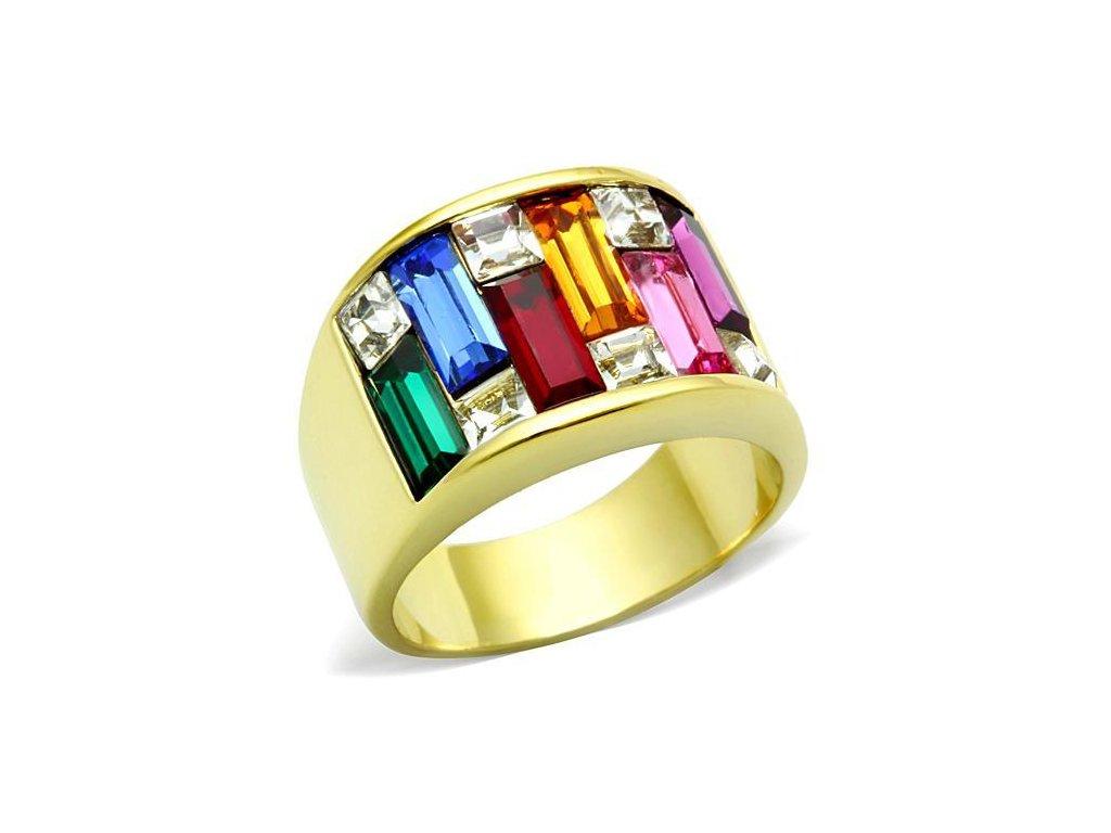 ocelovy prsten zlaty sr1397
