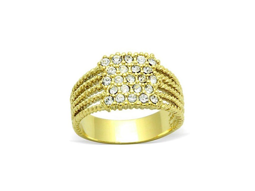 ocelovy prsten zlaty sr1400