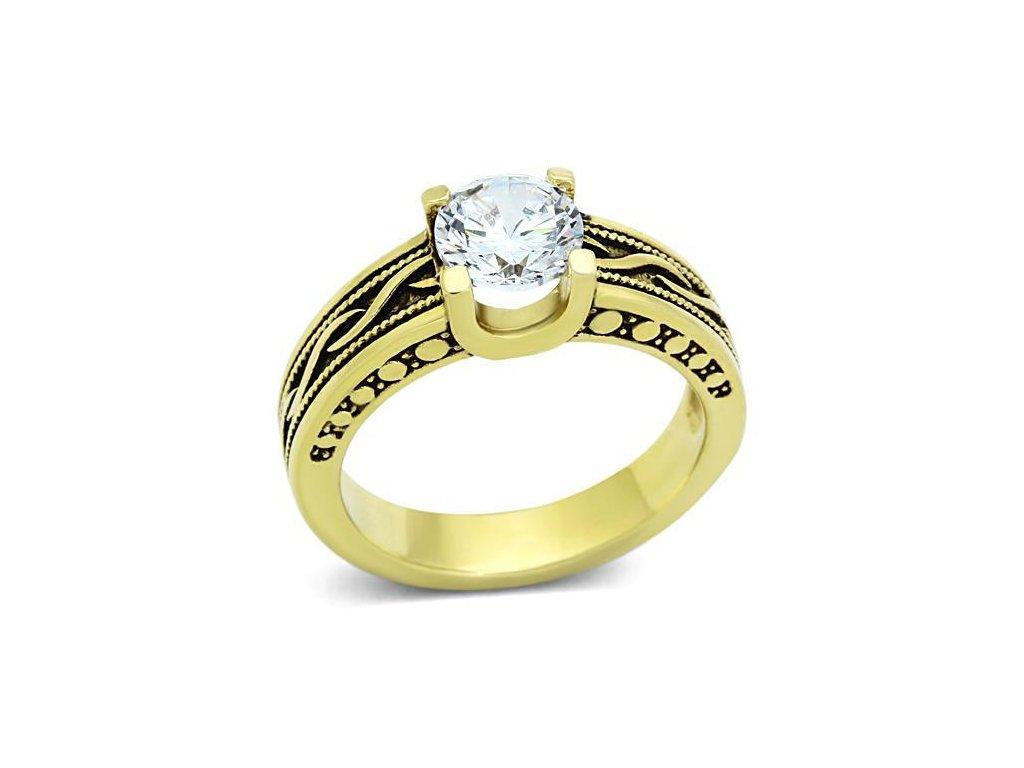 ocelovy prsten so zirkonom sr1410