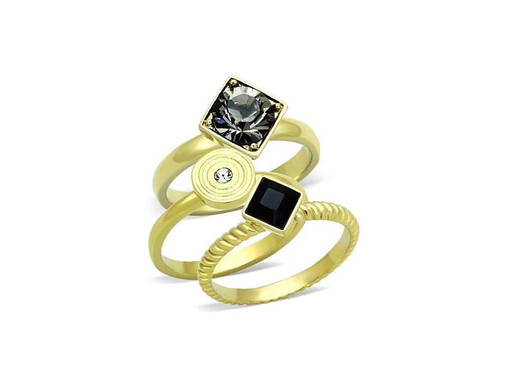 ocelovy prsten zlaty sr1417