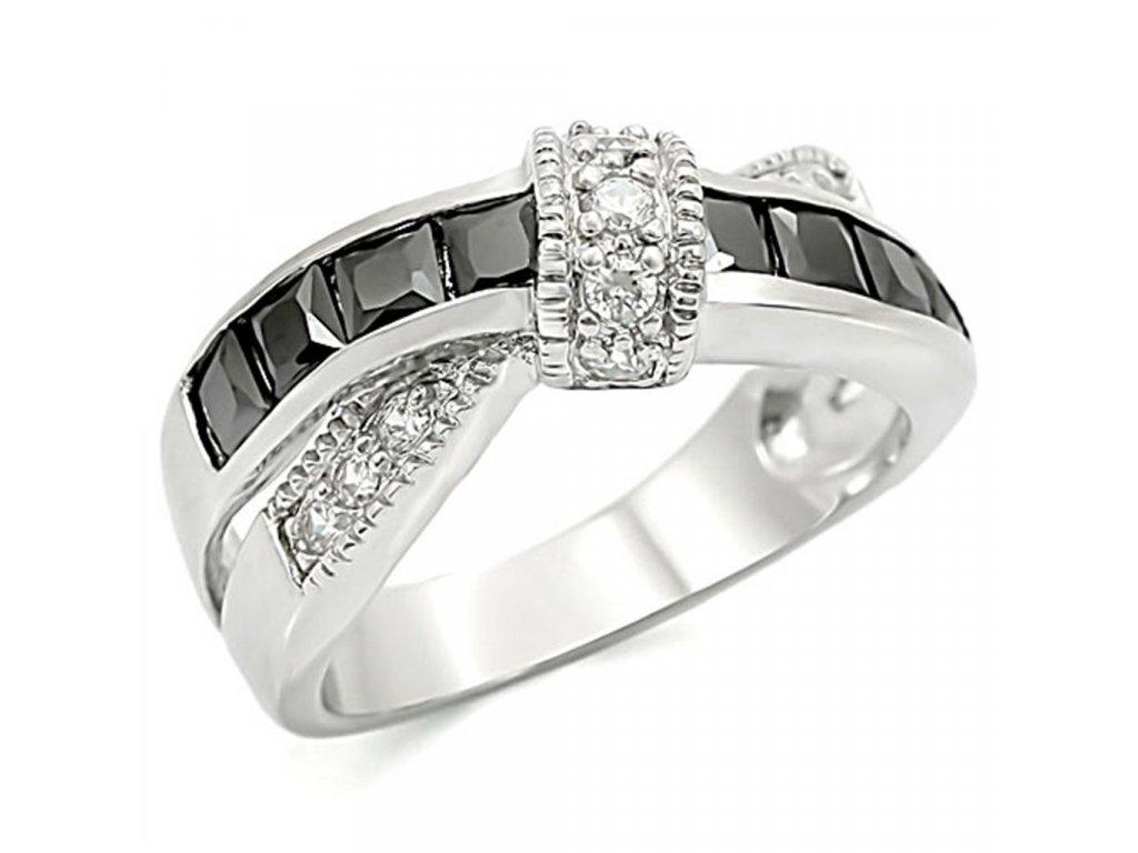 ocelovy prsten so zirkonom sr1494