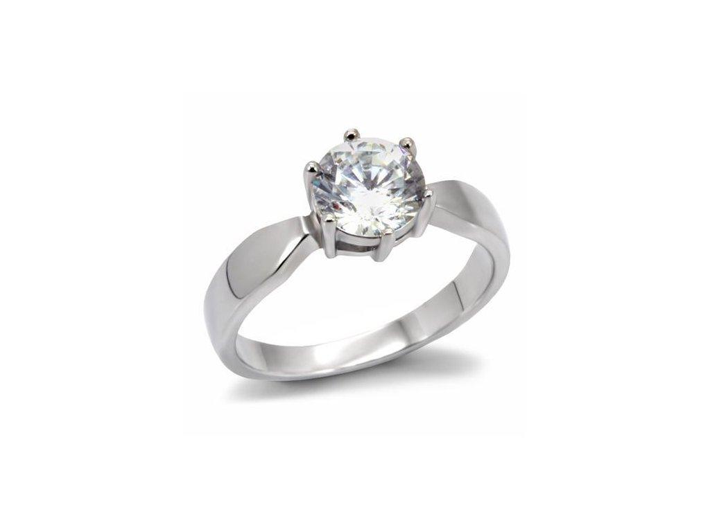 ocelovy prsten so zirkonom sr0071