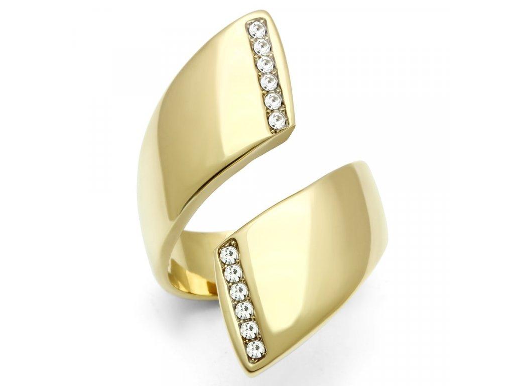 prsten krystal zlaty bs292