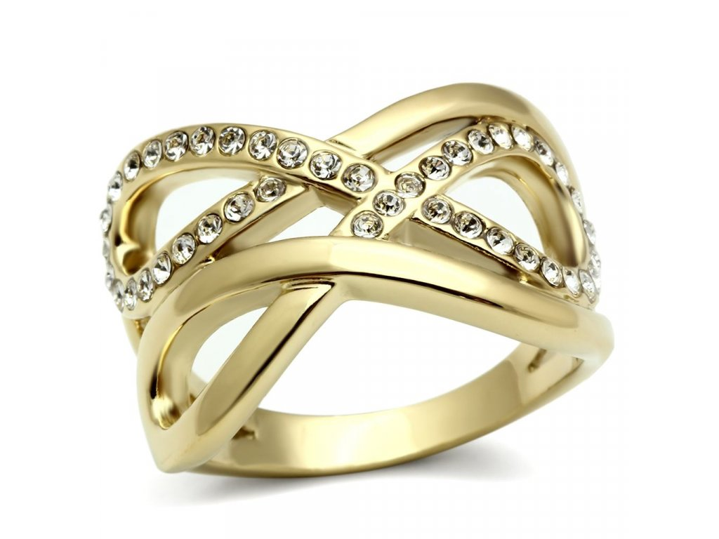 prsten krystal zlaty bs299