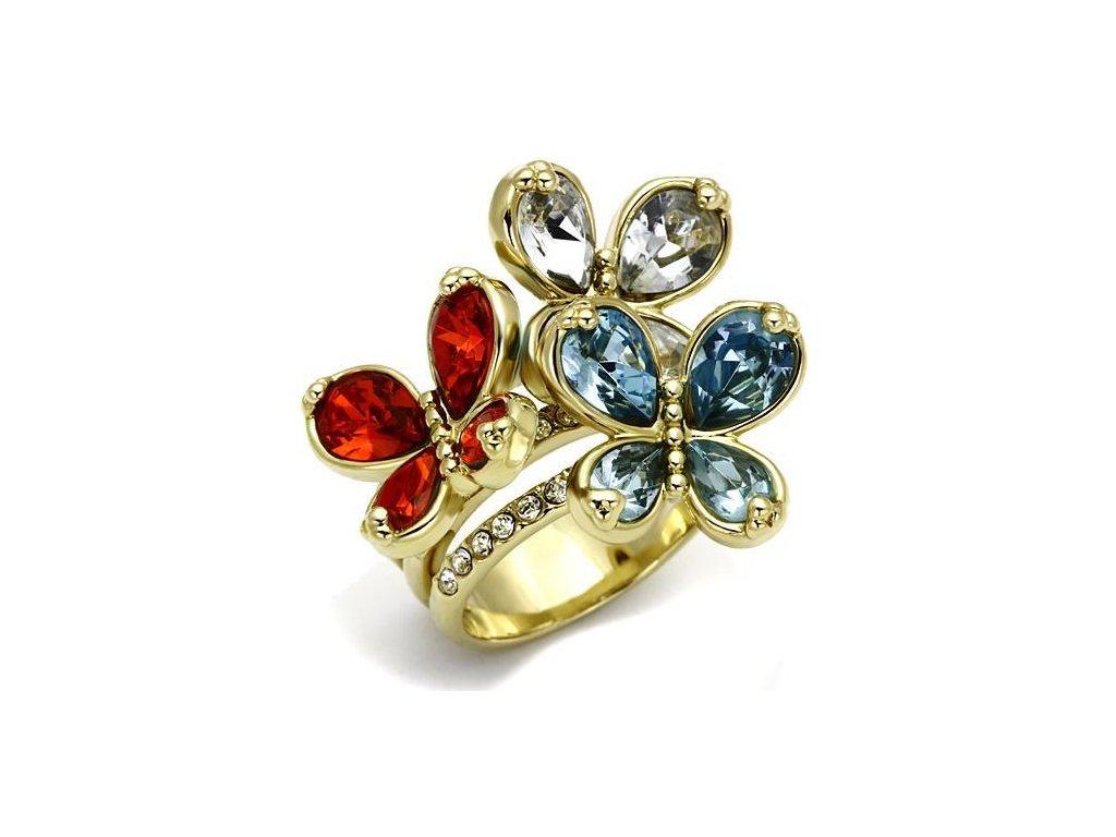 prsten motyl zlaty bs2547