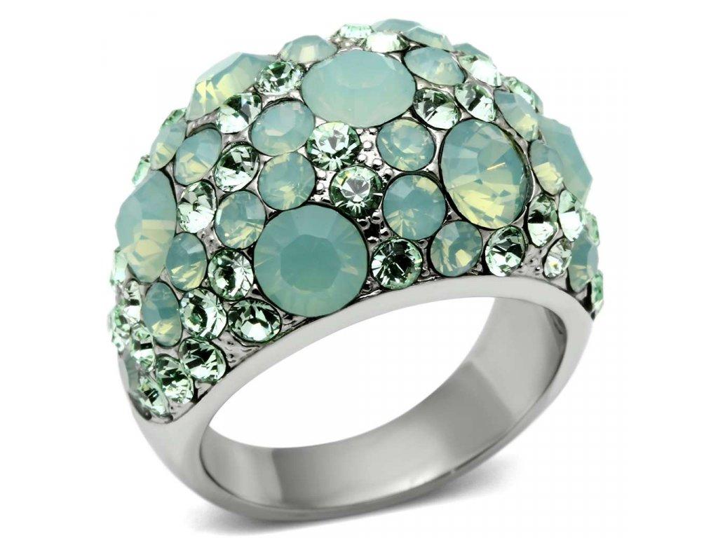 ocelovy prsten krystal sr0641