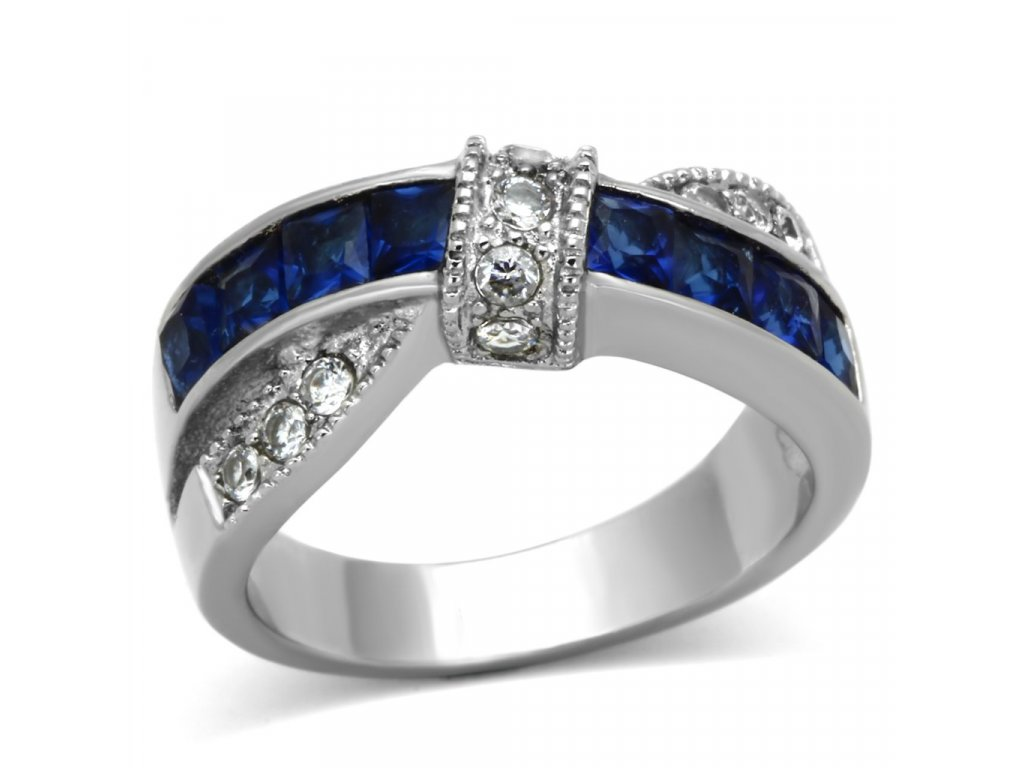 ocelovy prsten modry sr1222