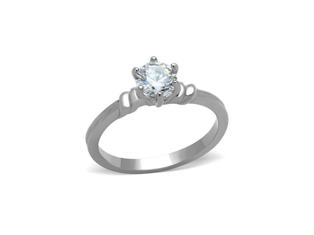 ocelovy prsten so zirkonom sr1431