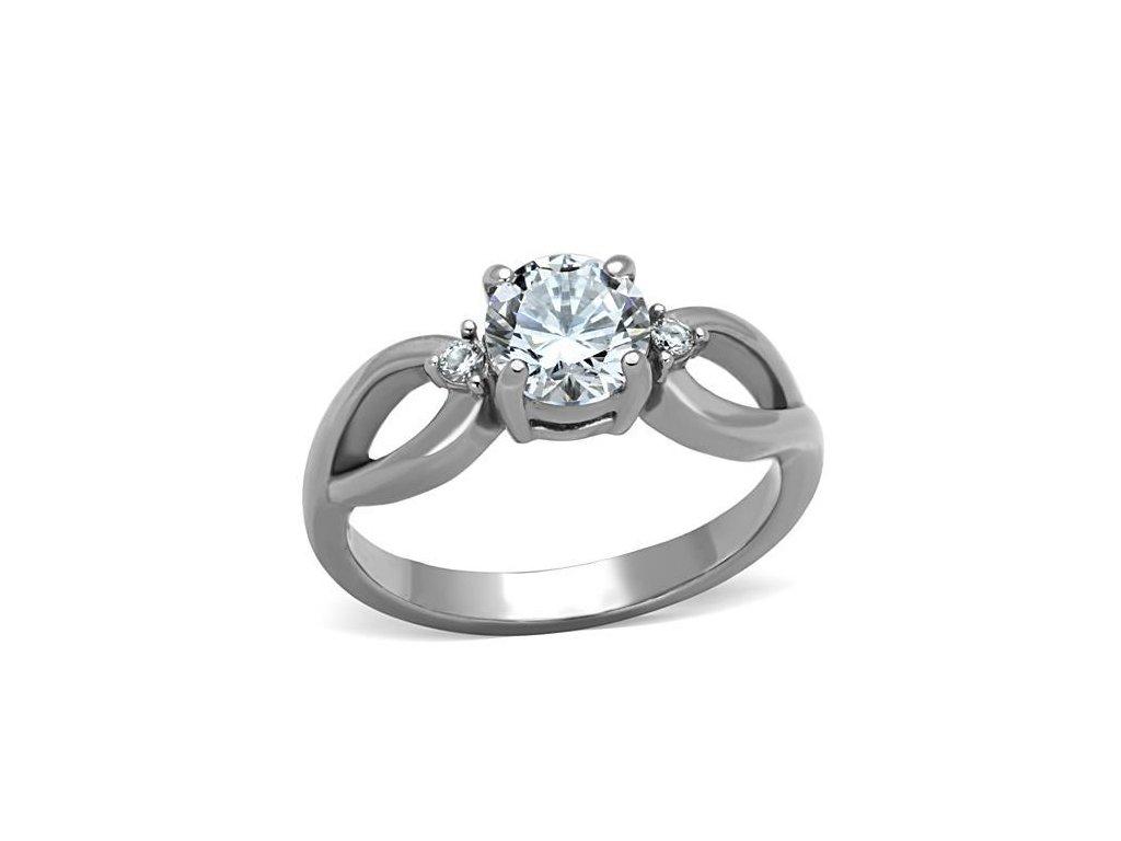 ocelovy prsten so zirkonom sr1539