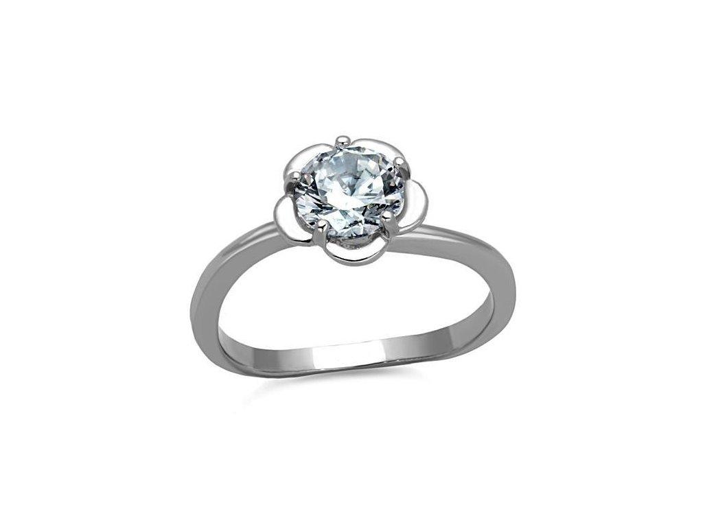 ocelovy prsten so zirkonom sr1540