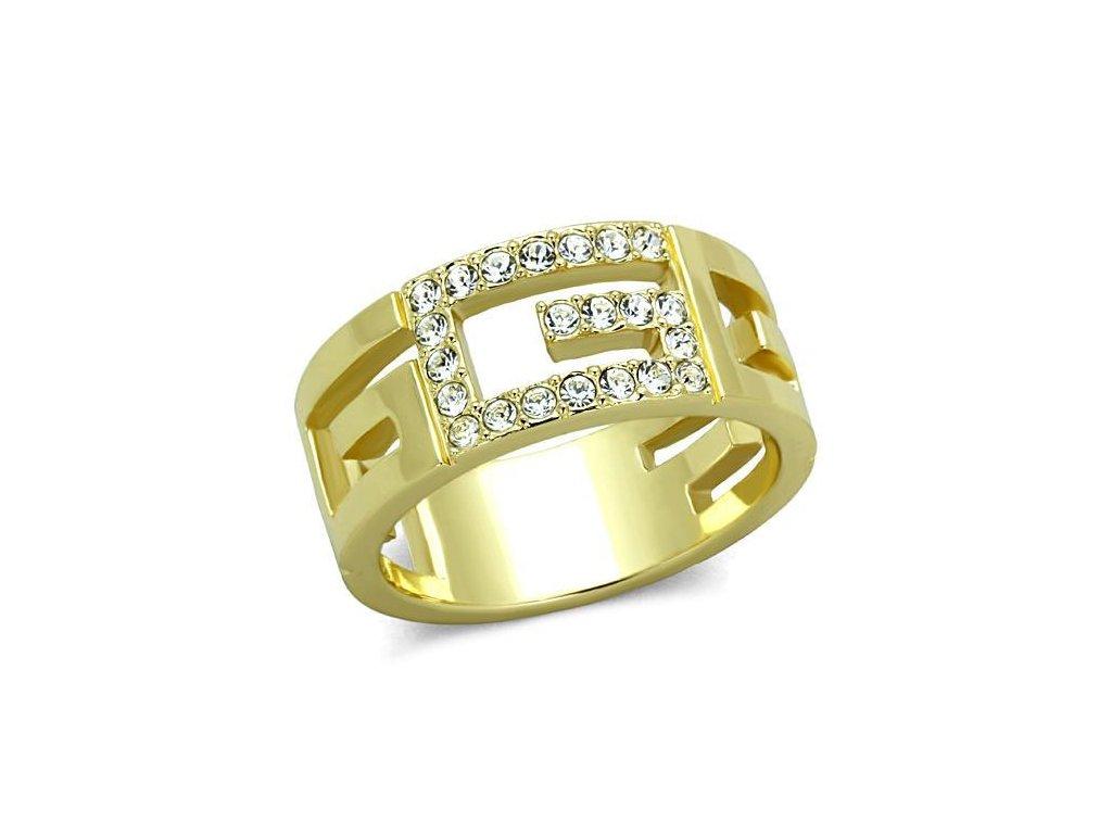 ocelovy prsten s krystalmi sr1712