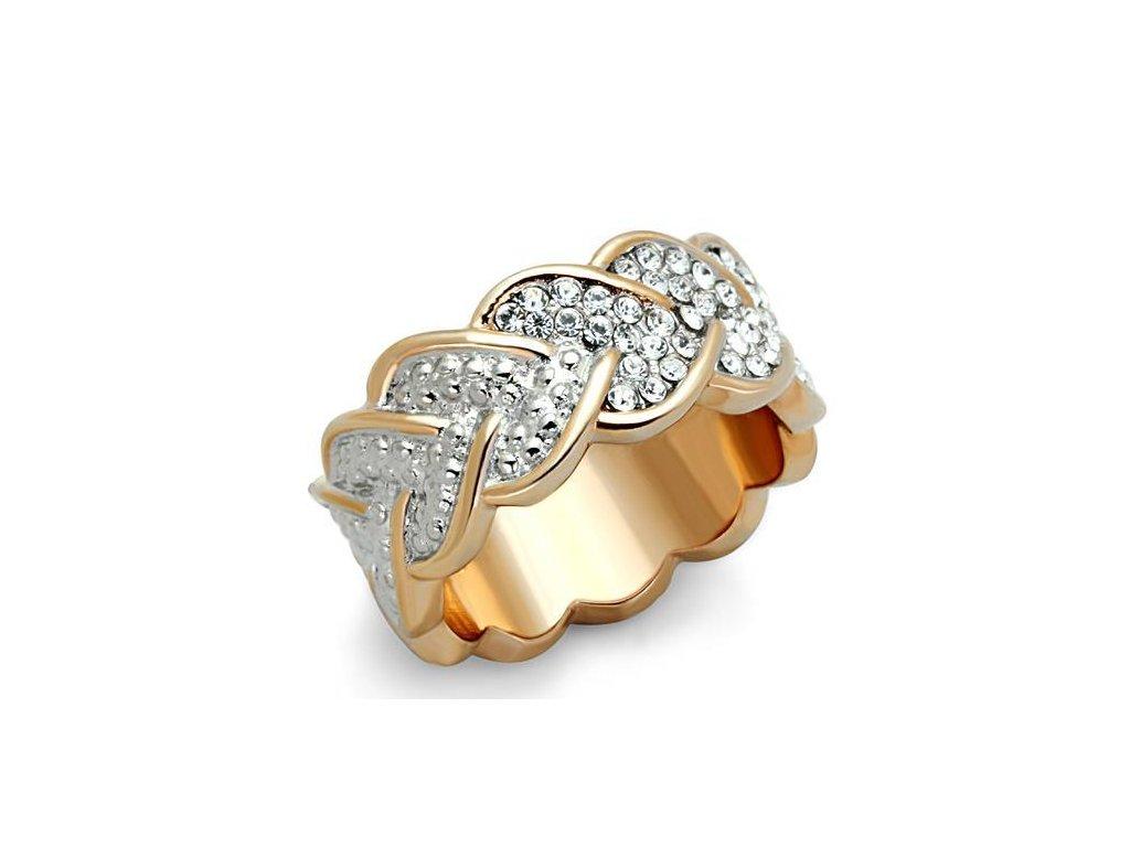 ocelovy prsten s krystalmi sr1691