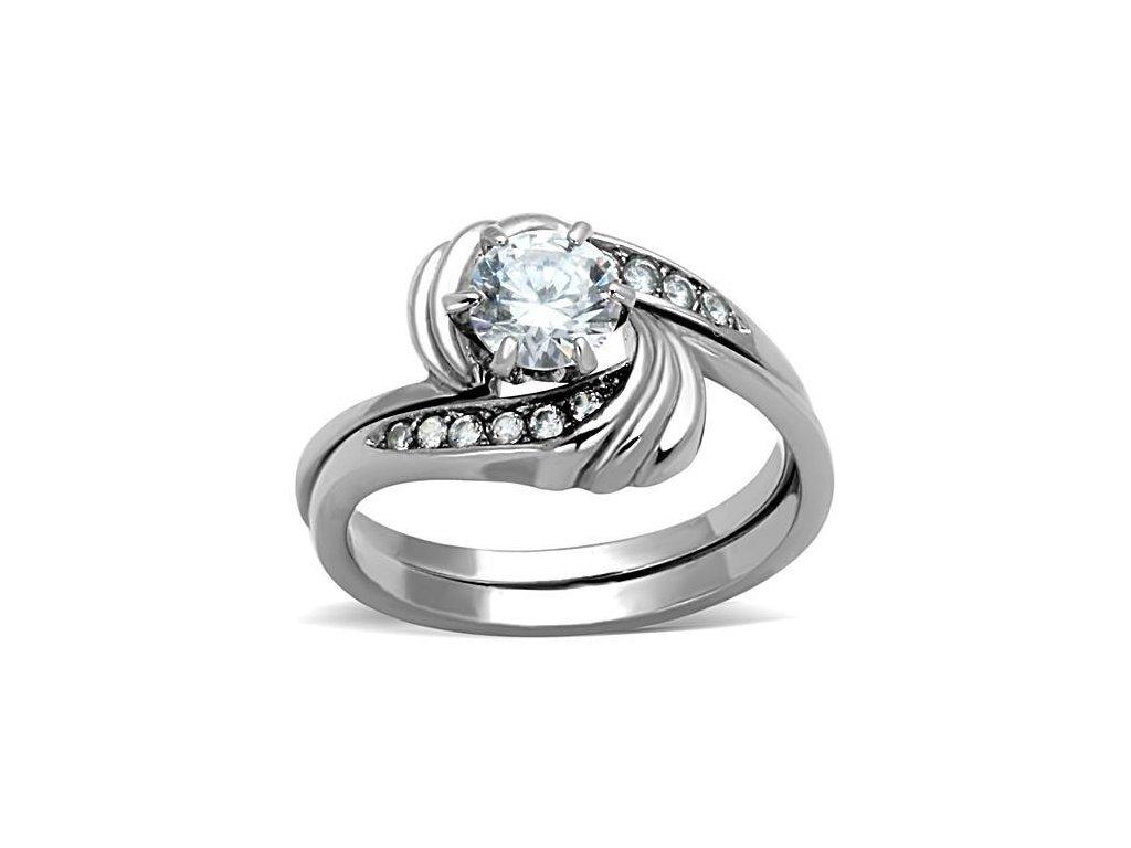 ocelovy prsten so zirkonom sr1429