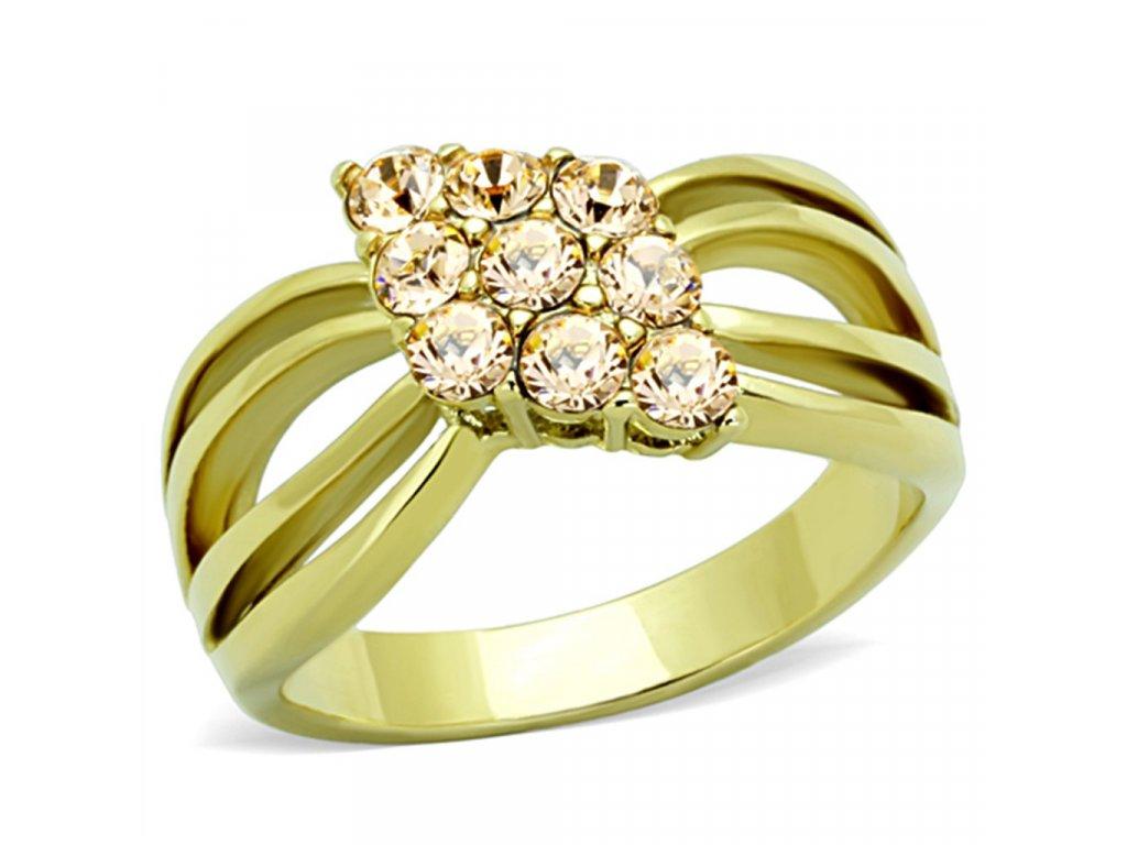 ocelovy prsten zlaty sr1579