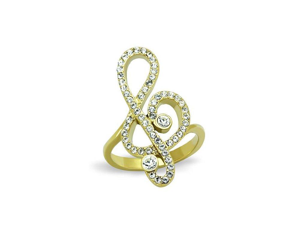 ocelovy prsten huslovy kluc sr1714