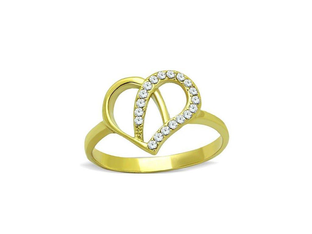 ocelovy prsten srdce sr1586