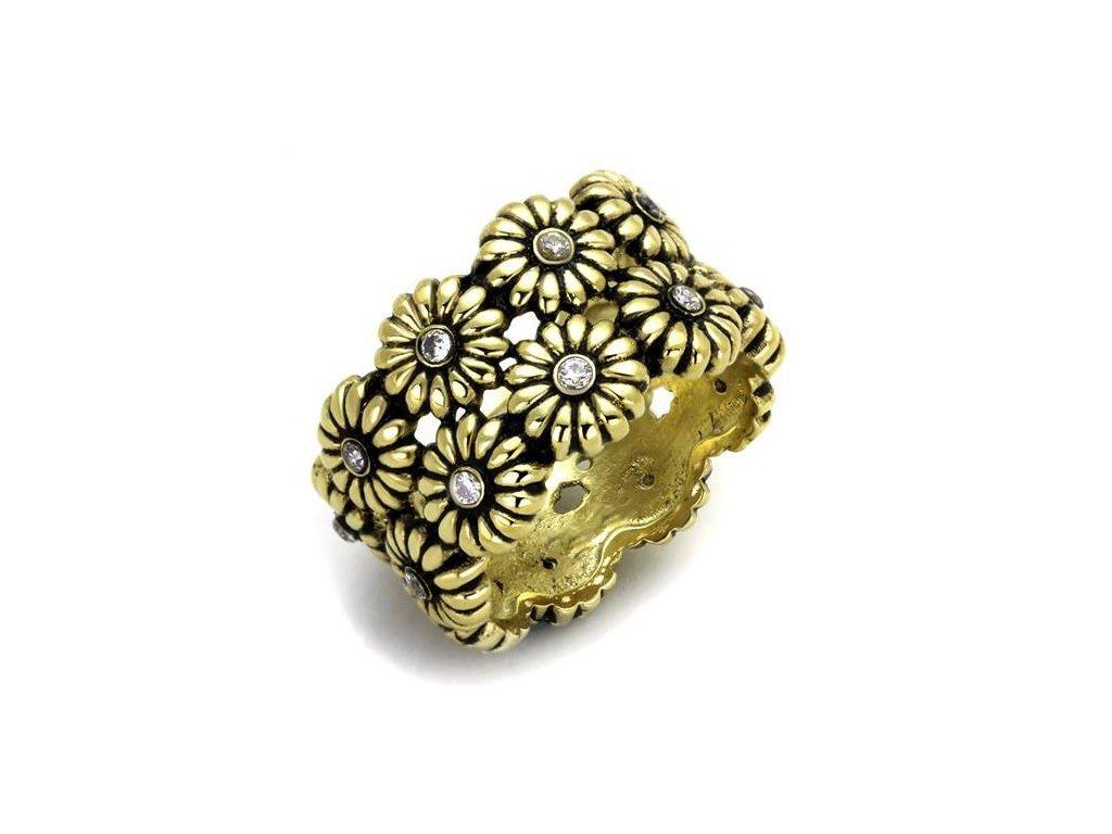 ocelovy prsten s krystalmi sr1626