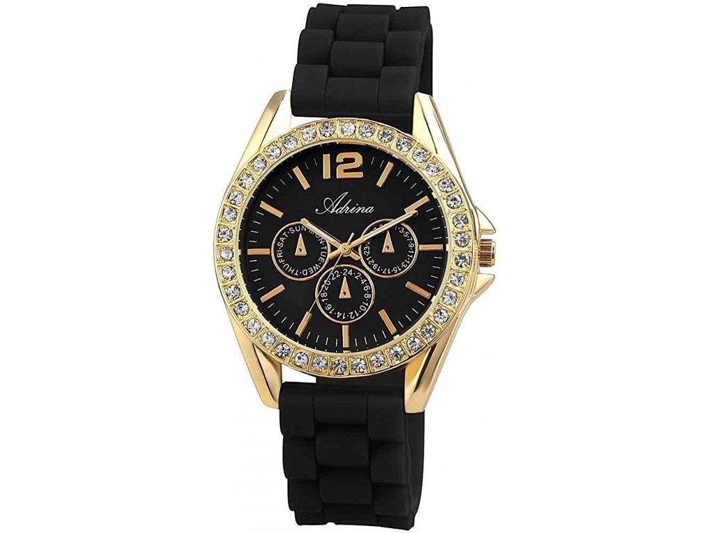 damske silikonove hodinky adrina black