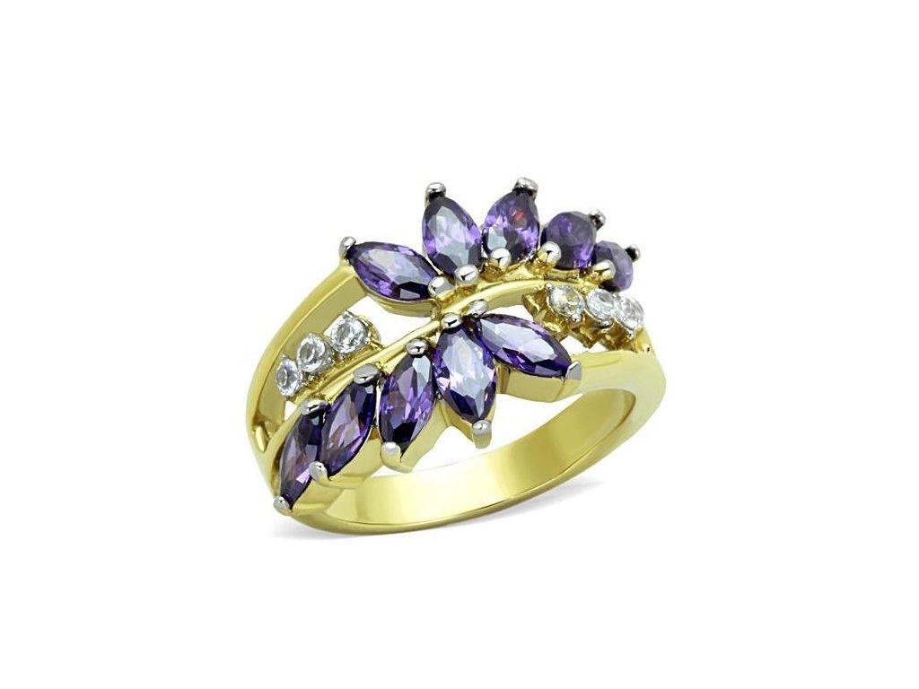damsky zlaty ocelovy prsten sr1568
