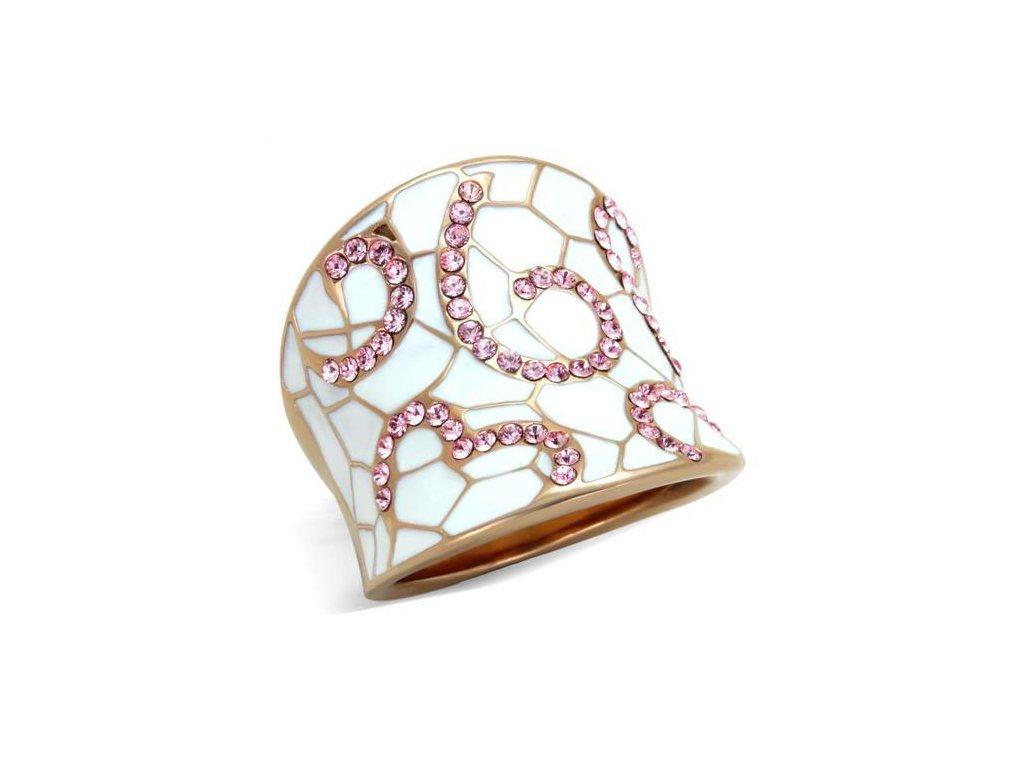 damsky zlaty ocelovy prsten sr1852