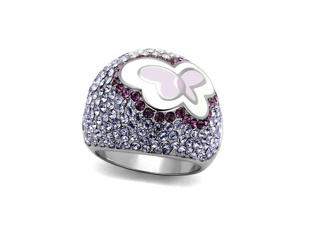 motyl ocelovy prsten sr2125