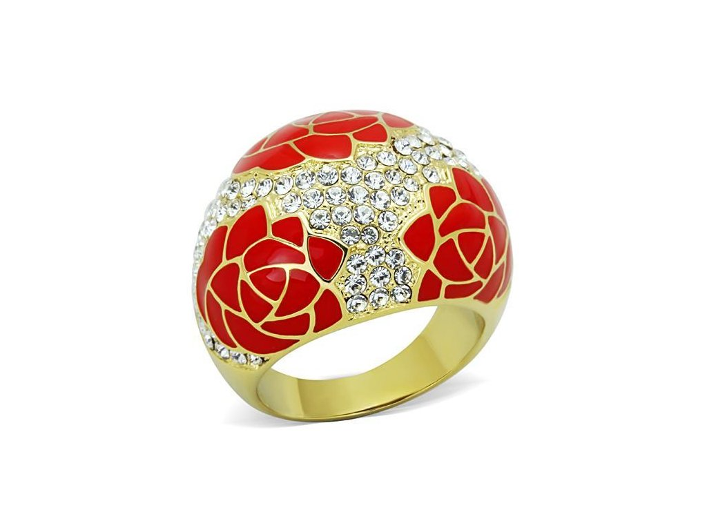 damsky zlaty ocelovy prsten sr1728