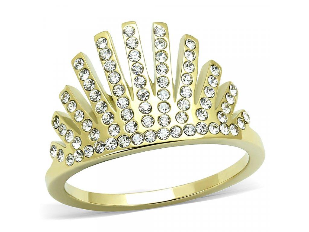 damsky zlaty ocelovy prsten sr3128
