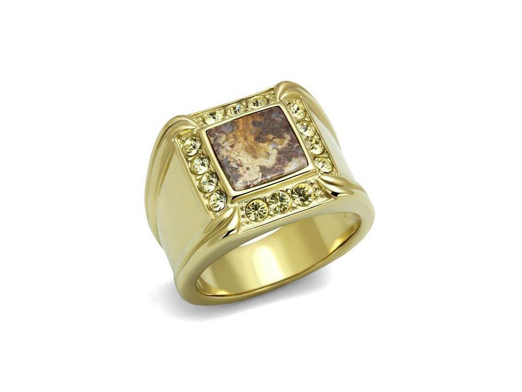 zlaty ocelovy prsten sr3013