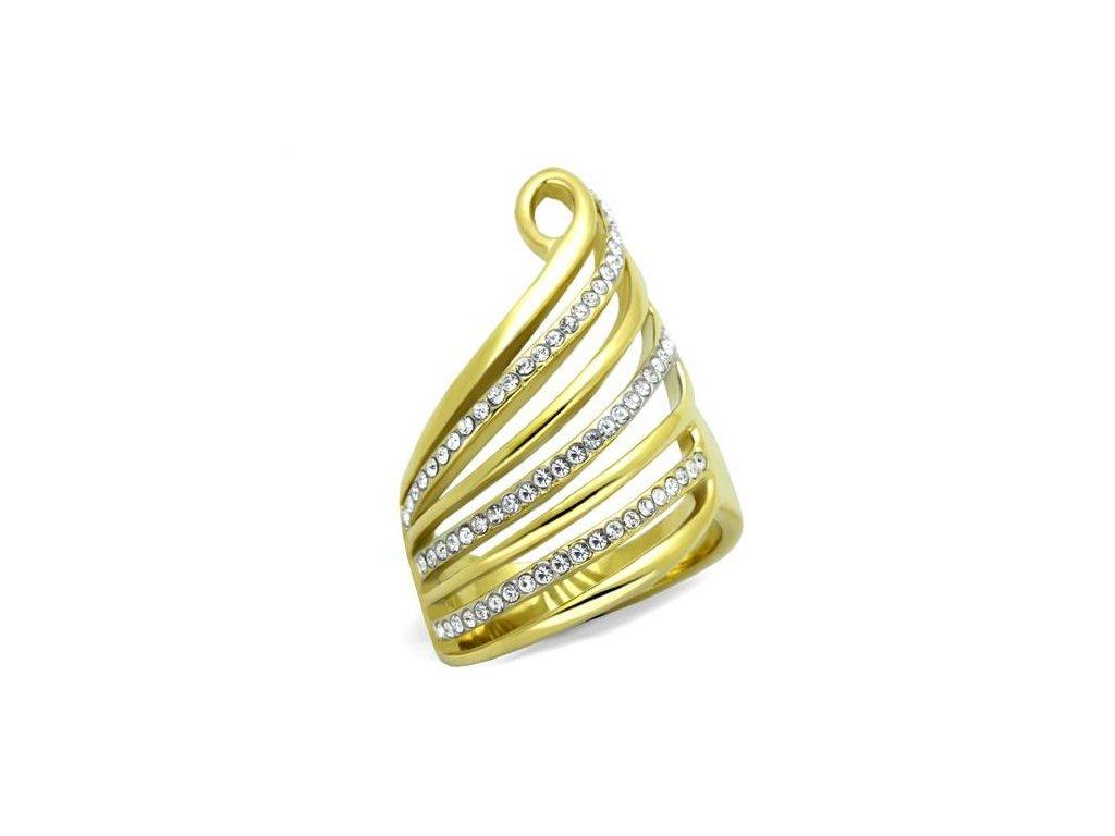 zlaty ocelovy prsten sr1909