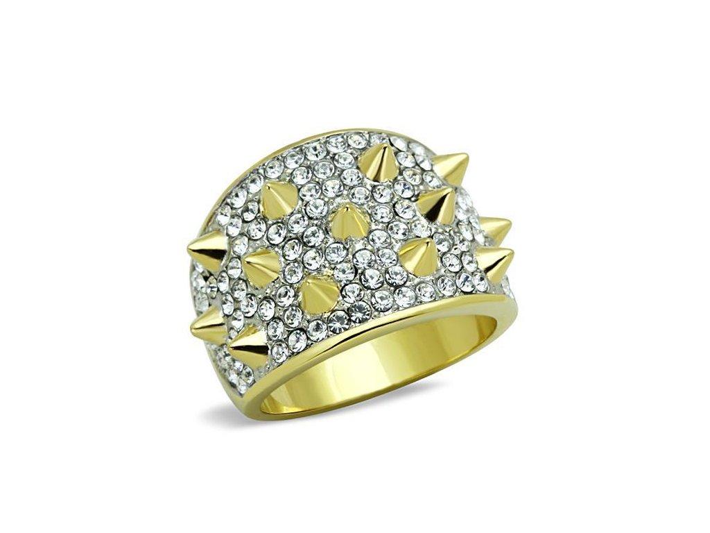 zlaty ocelovy prsten sr1697