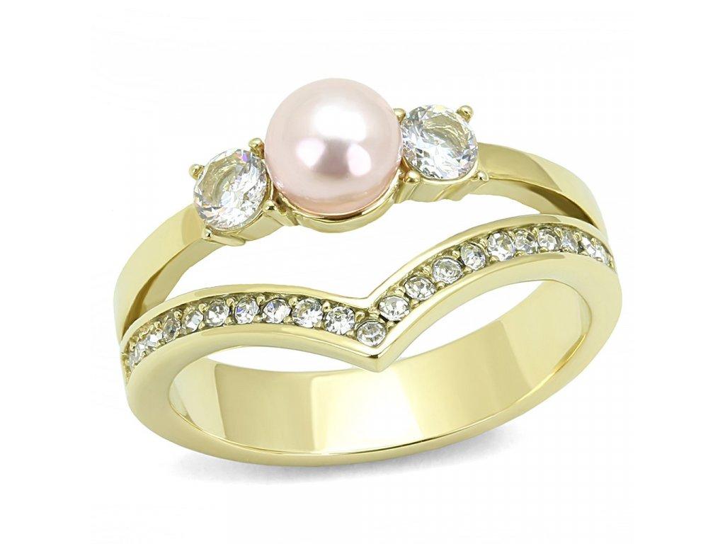 zlaty ocelovy prsten sr3126