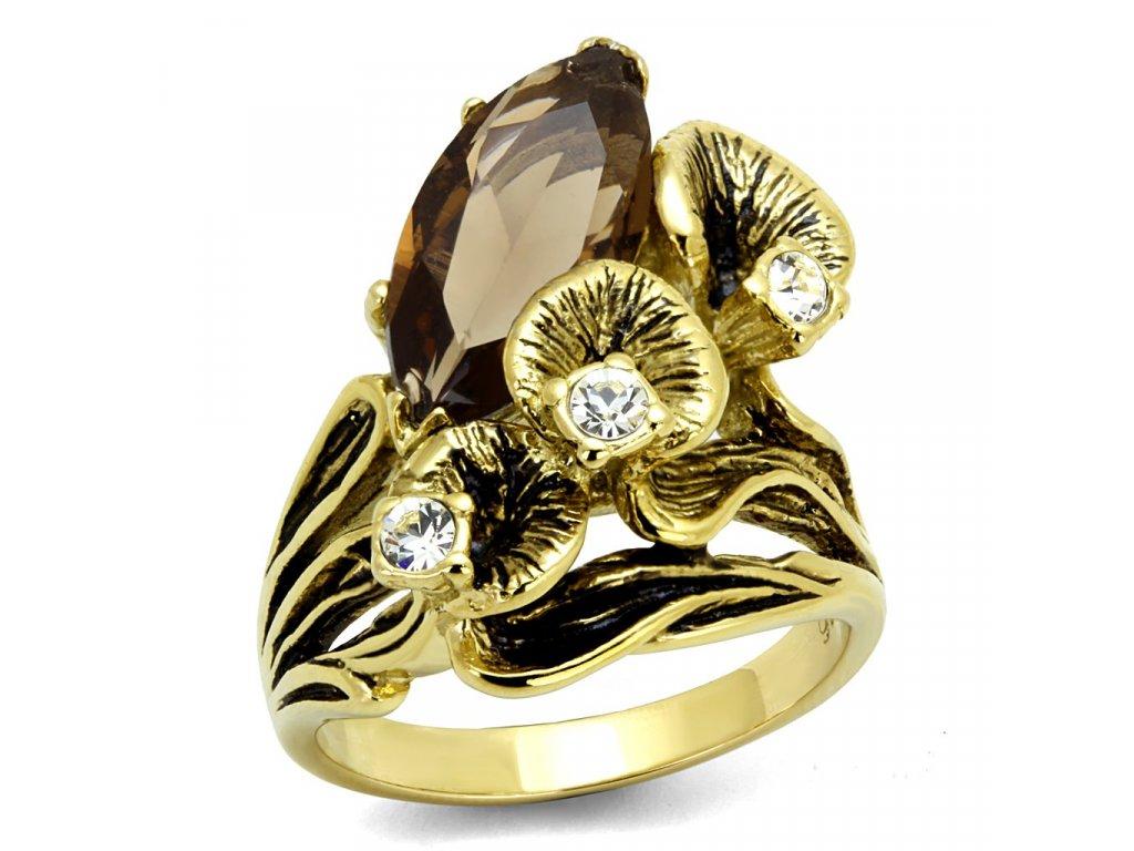 zlaty ocelovy prsten sr2914