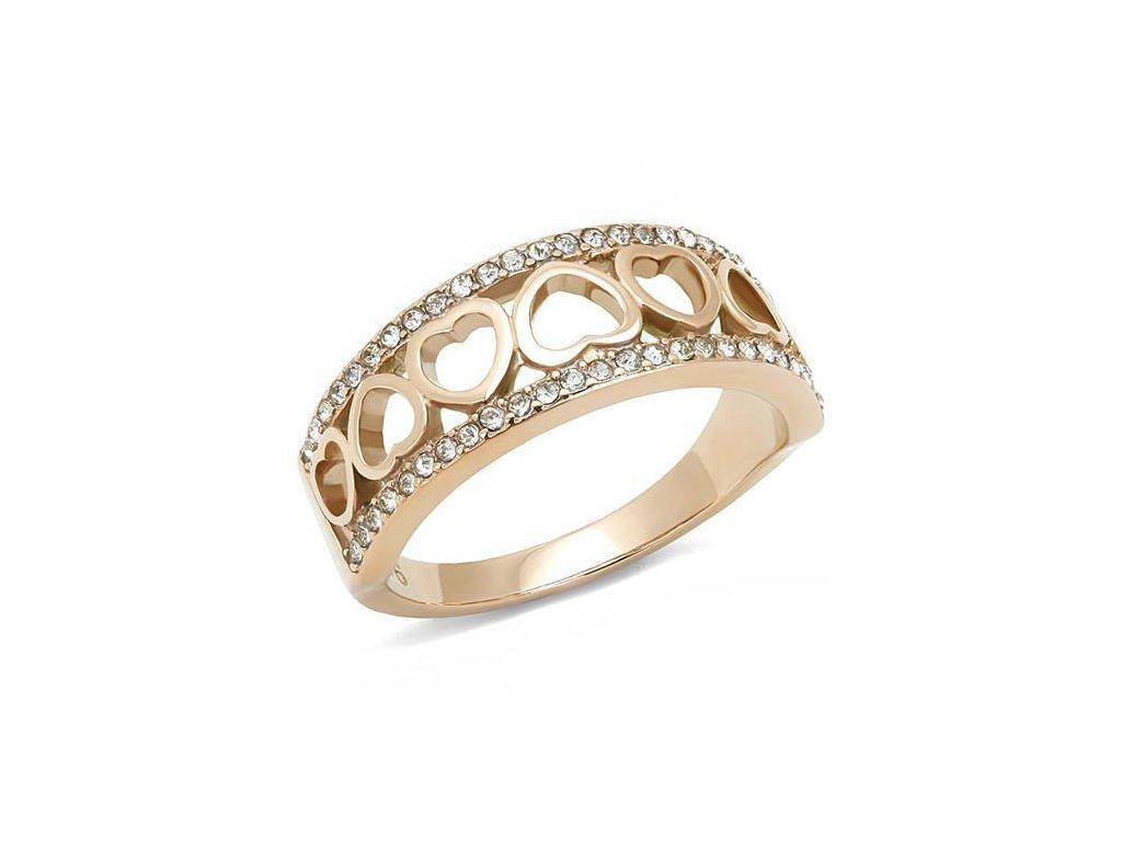 zlaty ocelovy prsten sr3194