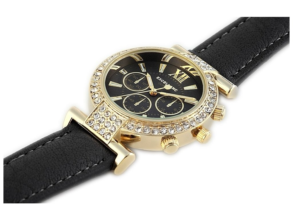 Excellanc Gold dámske hodinky - eLuxe - šperky a hodinky 1f71a5c1bf