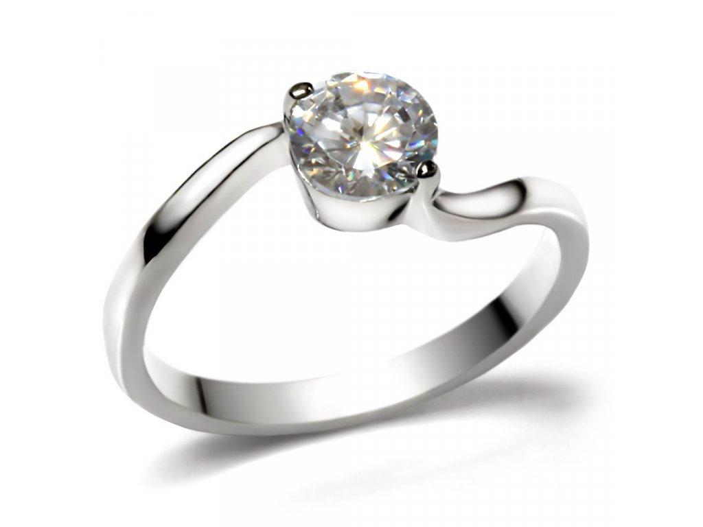 ocelovy prsten zirkon sr0023