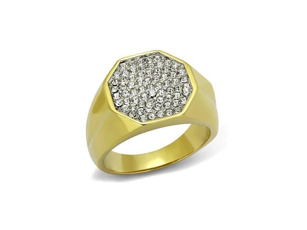 zlaty ocelovy prsten sr2221