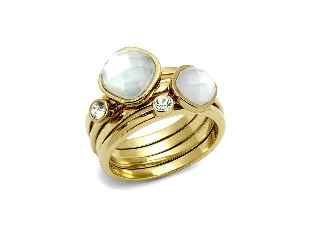 zlaty ocelovy prsten sr2975