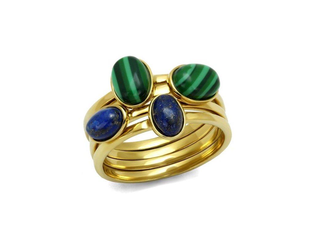 zlaty ocelovy prsten sr2905