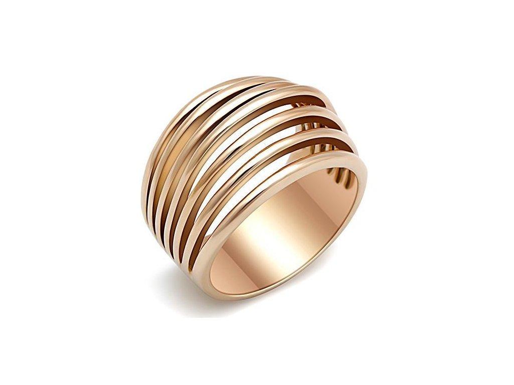 zlaty ocelovy prsten sr1414