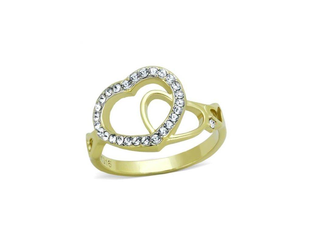 zlaty ocelovy prsten sr1908